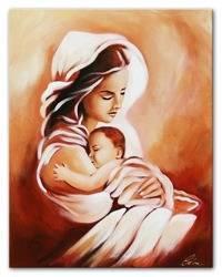 """Obraz """"Maryja"""" ręcznie malowany 40x50cm"""