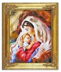 """Obraz """"Maryja"""" ręcznie malowany 53x63cm"""