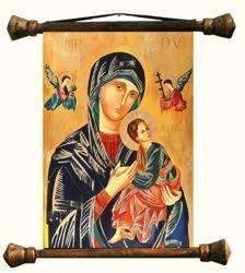 """Obraz """"Maryja"""" ręcznie malowany 54x82cm"""