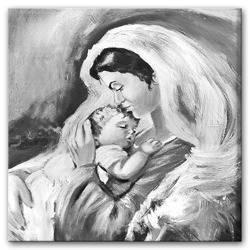 """Obraz """"Maryja"""" ręcznie malowany 60x60cm"""