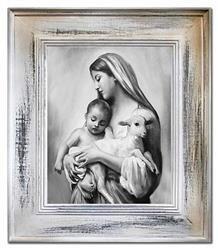"""Obraz """"Maryja"""" ręcznie malowany 66x76cm"""