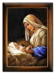 """Obraz """"Maryja"""" ręcznie malowany 76x106cm"""