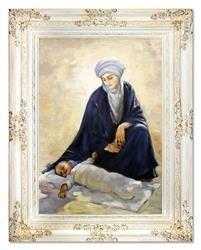 """Obraz """"Maryja"""" ręcznie malowany 78x98cm"""