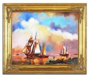 """Obraz """"Marynistyka"""" ręcznie malowany 55x65cm"""