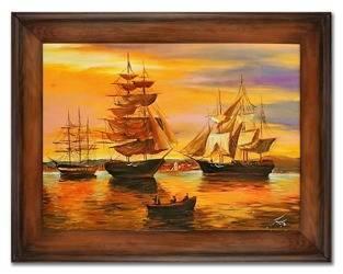 """Obraz """"Marynistyka"""" ręcznie malowany 72x92cm"""