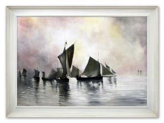 """Obraz """"Marynistyka"""" ręcznie malowany 75x105cm"""