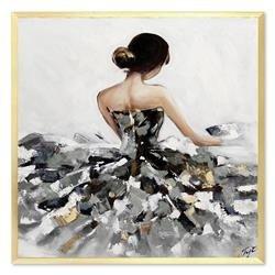 """Obraz """"NOWOŚCI"""" ręcznie malowany 63x63cm"""