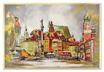 """Obraz """"NOWOŚCI"""" ręcznie malowany 63x93cm"""