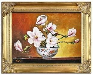 """Obraz """"Orchidee"""" ręcznie malowany 37x47cm"""