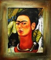 """Obraz """"Pablo Picasso, Salvador Dali i inni"""" ręcznie malowany 55x66cm"""
