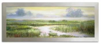 """Obraz """"Pejzaz tradycyjny"""" ręcznie malowany 68x168cm"""