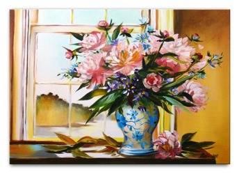 Obraz - Piwonie - olejny, ręcznie malowany 60x90cm
