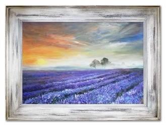 """Obraz """"Pola lawendowe"""" ręcznie malowany 86x116cm"""