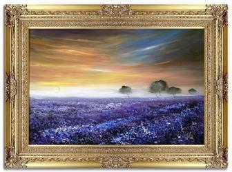 """Obraz """"Pola lawendowe"""" ręcznie malowany 90x120cm"""