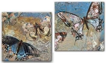 "Obraz ""Retro"" reprodukcja 40x40cm x2"
