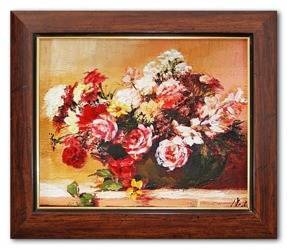 """Obraz """"Roze"""" ręcznie malowany 26x31cm"""