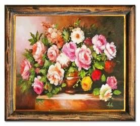 """Obraz """"Roze"""" ręcznie malowany 50x60cm"""