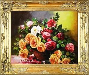 """Obraz """"Roze"""" ręcznie malowany 54x63cm"""