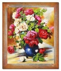 """Obraz """"Roze"""" ręcznie malowany 65x64cm"""