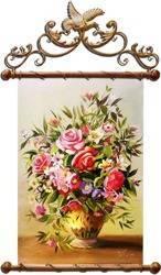 """Obraz """"Roze"""" ręcznie malowany 67x101cm"""