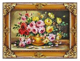 """Obraz """"Roze"""" ręcznie malowany 85x115cm"""