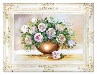 """Obraz """"Roze"""" ręcznie malowany 90x120cm"""