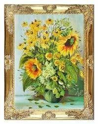 """Obraz """"Sloneczniki"""" ręcznie malowany 37x47cm"""