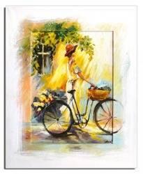 Obraz - Spacery - pejzaz nowoczesny - olejny, ręcznie malowany 46x56cm