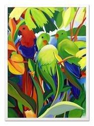 """Obraz """"Tropical Island"""" ręcznie malowany 53x73cm"""