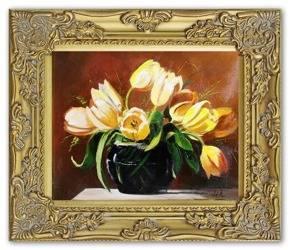 Obraz - Tulipany - olejny, ręcznie malowany 27x32cm