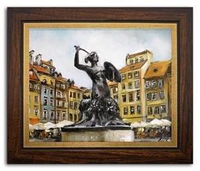"""Obraz """"Warszawa"""" ręcznie malowany 27x32 cm"""