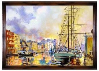 """Obraz """"Wenecja"""" ręcznie malowany 200x140cm"""