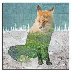 "Obraz ""Wild Nature"" reprodukcja 40x40cm"