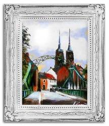 """Obraz """"Wrocław"""" ręcznie malowany 27x32cm"""