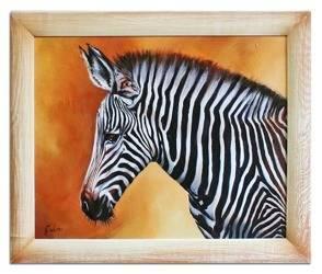 """Obraz """"Zwierzęta"""" ręcznie malowany 53xc64cm"""