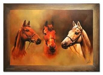 """Obraz """"Zwierzęta"""" ręcznie malowany 75x105cm"""