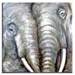 """Obraz """"Zwierzęta"""" ręcznie malowany 90x90cm"""