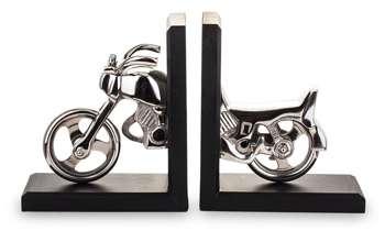Podpórka Do Książek Czarny Book End Motocykl H18cm