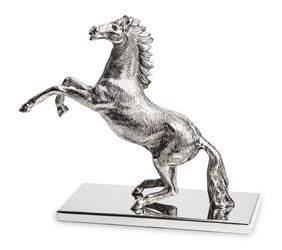 Srebrna Figurka Konia W Skoku
