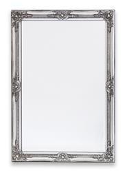 Stylowa Rama  Dekoracyjna Lustro Srebrny 102x72 cm