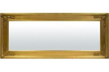 Szerokie Złote Lustro w Zdobnej Ramie 60x140x3 cm
