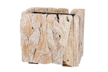 Wood old Skrzynia biała