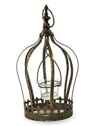 Zawieszany Kwietnik z Metalu na Kształt Korony