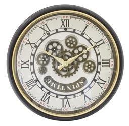 Zegar Retro Rzymskie Cyfry Koła Zębate 49x49cm