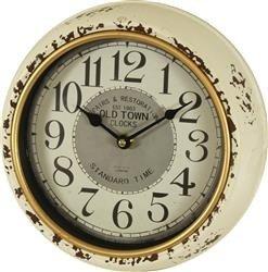Zegar ścienny biały Old Town 24,5x24,5cm