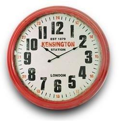 Zegar ścienny retro Czerwona Ramka 93x93cm