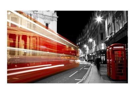 Fototapeta - Czerwona budka telefoniczna, Londyn