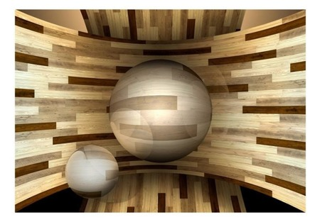 Fototapeta - Drewniana orbita
