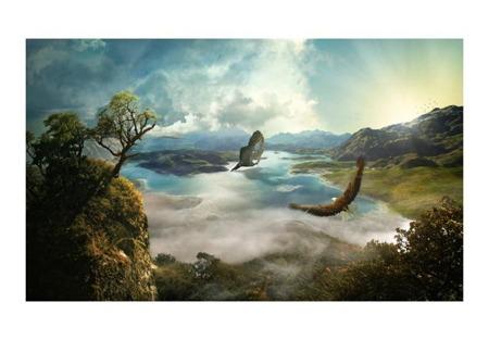 Fototapeta - Lot nad jeziorem