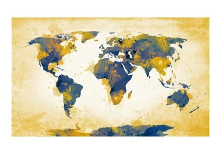 Fototapeta - Map of the World - Sun and sky